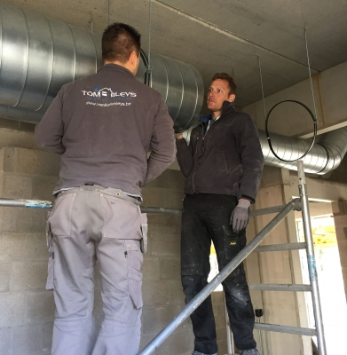 Work in Progress – installeren ventilatiekanalen